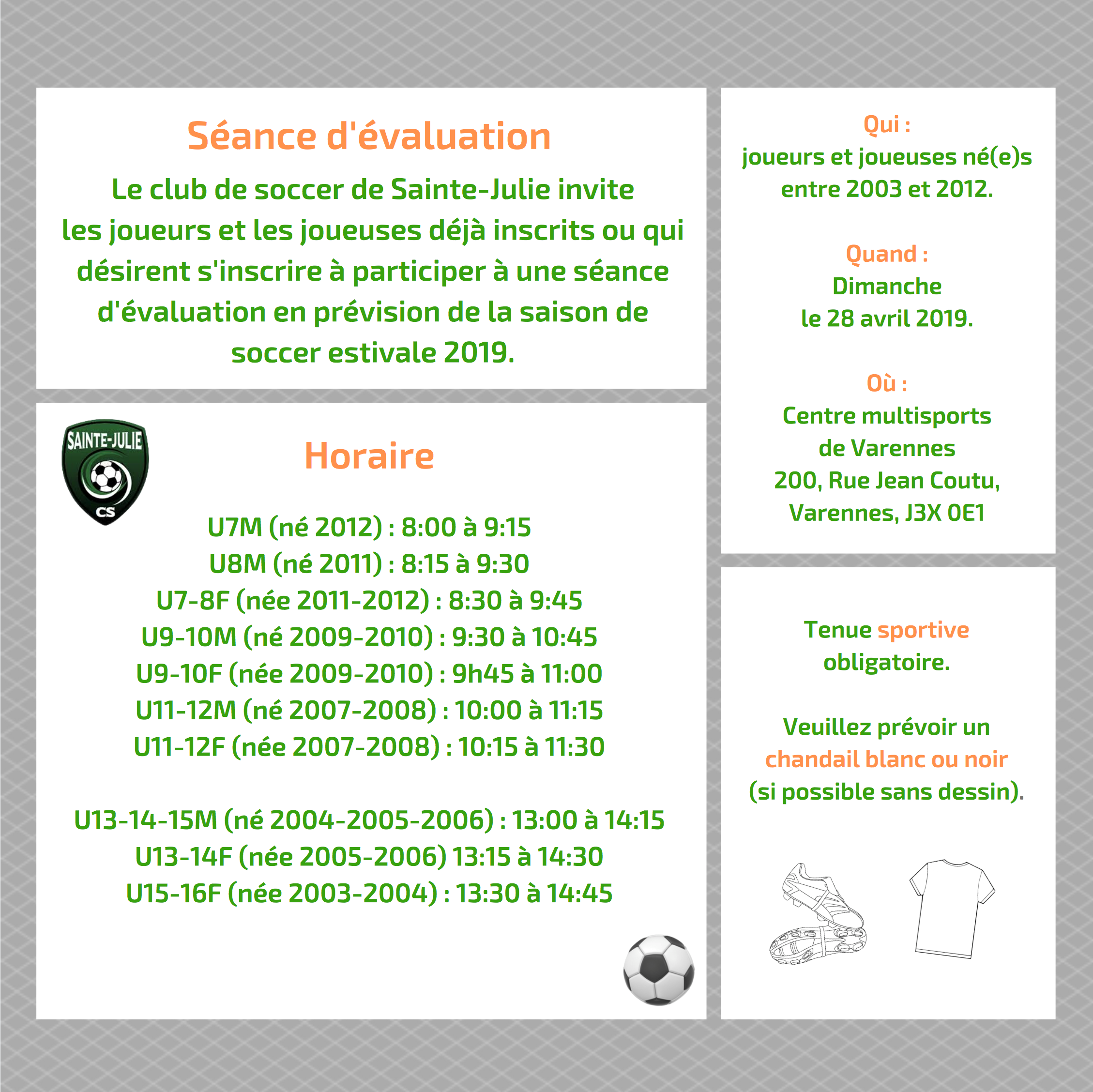 horaire eval 2